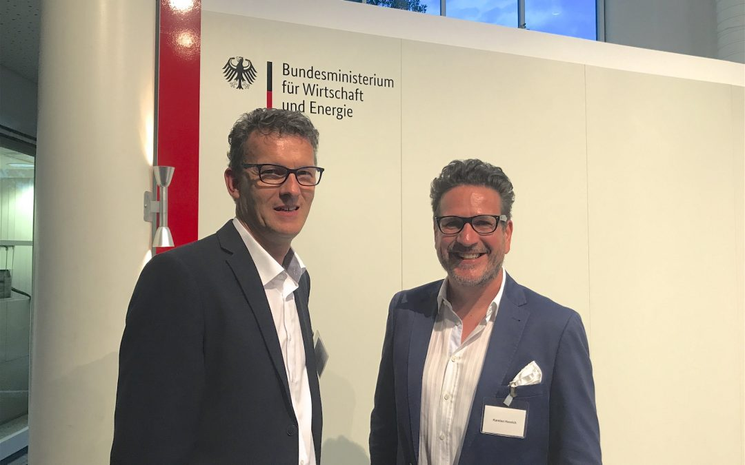 Christoph Janssen und Karsten Henrich beim Business Talk