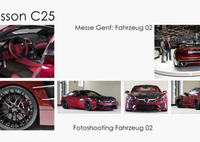 Fotoshooting und Genf-Fahrzeug